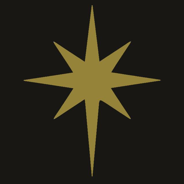 l'étoile rayonnante à huit branches